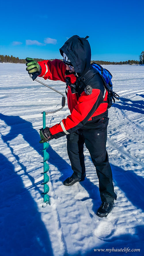 Snowmobile Ice Fishing Lapland13