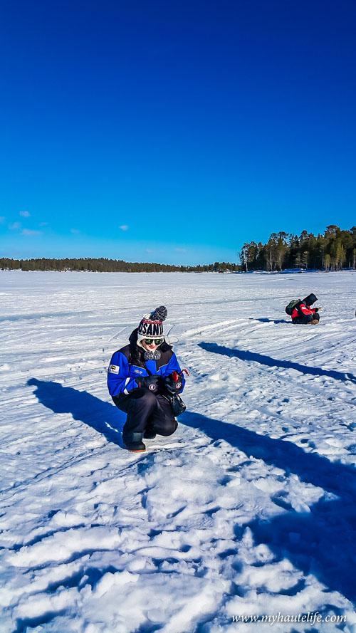 Snowmobile Ice Fishing Lapland15