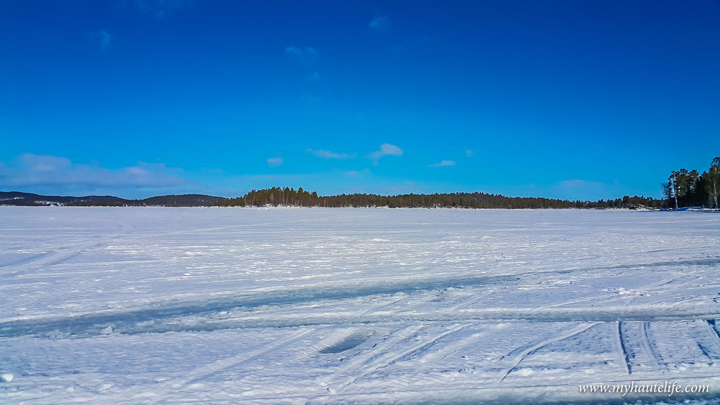 Snowmobile Ice Fishing Lapland16