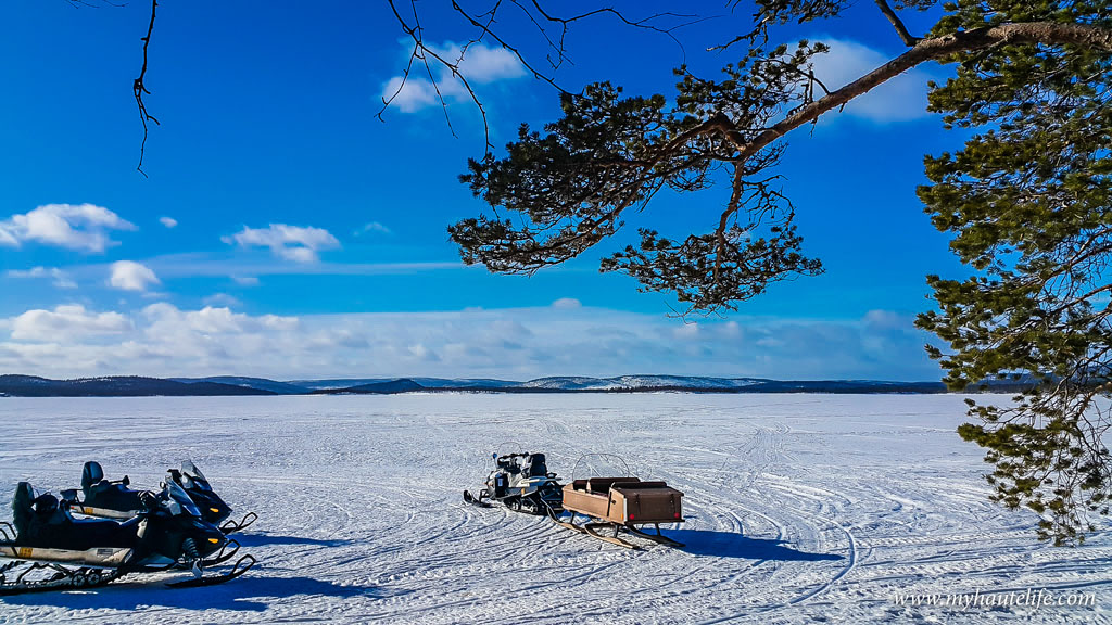 Snowmobile Ice Fishing Lapland19