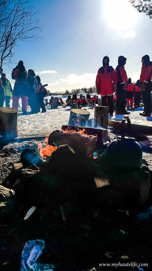 Snowmobile Ice Fishing Lapland20