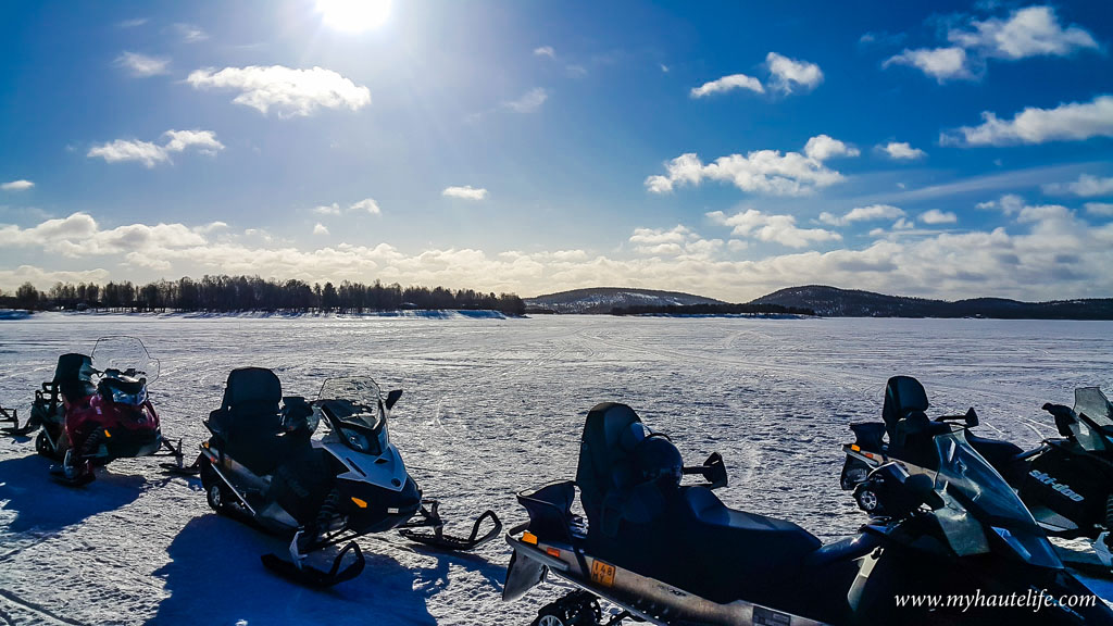 Snowmobile Ice Fishing Lapland22