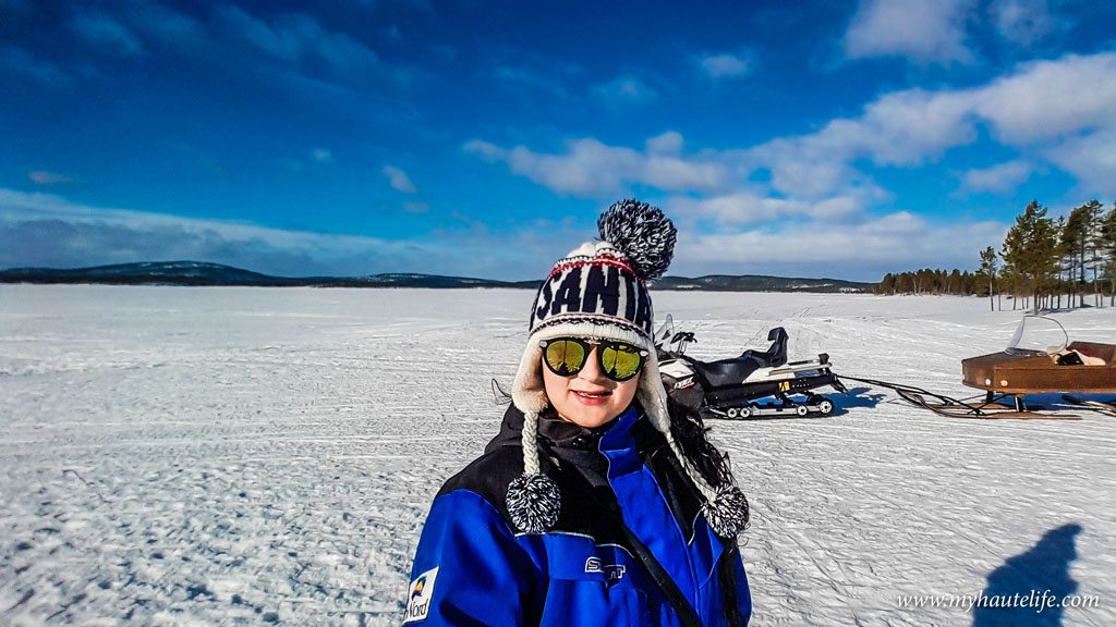 Snowmobile Ice Fishing Lapland24