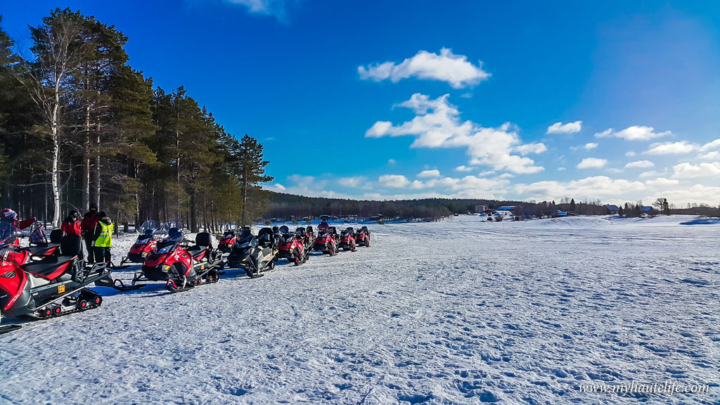 Snowmobile Ice Fishing Lapland25