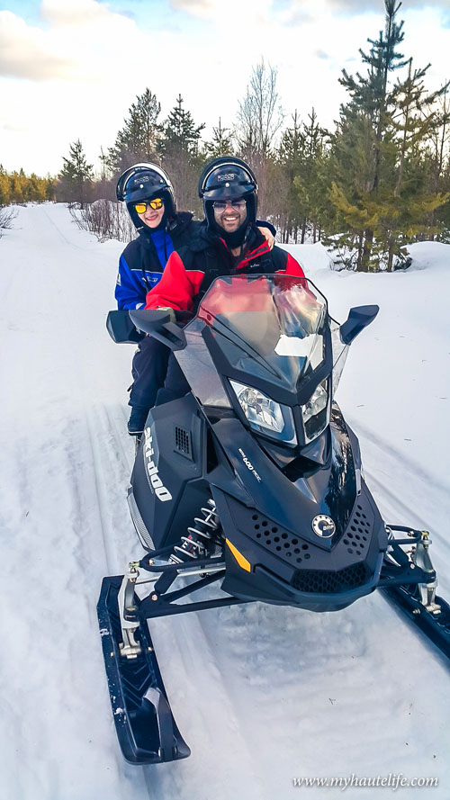 Snowmobile Ice Fishing Lapland5