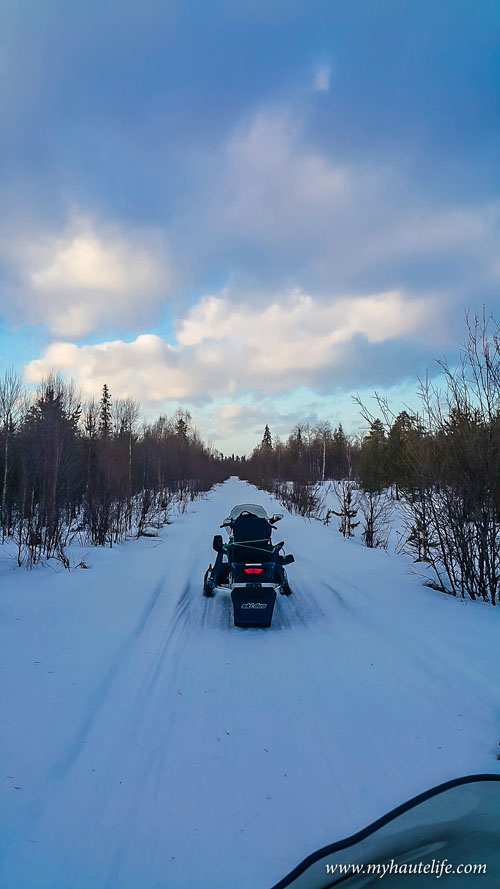 Snowmobile Ice Fishing Lapland7